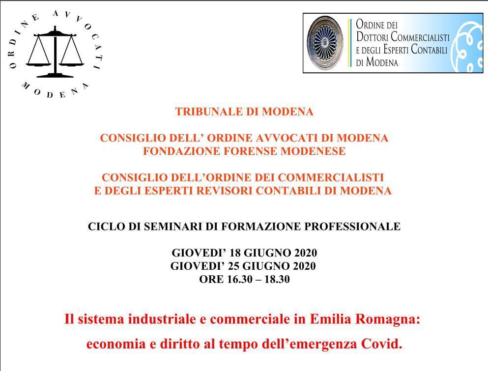 FAD] Il sistema industriale e commerciale in Emilia Romagna
